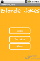 Screenshot of Blonde Jokes