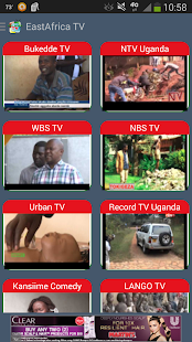 East Africa TV stations - screenshot