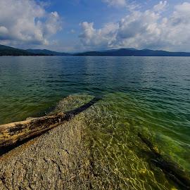 Lake Jocassee 2 by Jonathan Wheeler - Landscapes Waterscapes ( mountains, lake jocassee, devils fork state park, lakes, south carolina )