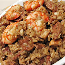 Finallywroteitdown Chicken, Sausage and Shrimp Jambalaya