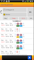 Screenshot of London Journey Planner