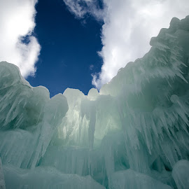 Ice Wall by John Falco - Novices Only Objects & Still Life ( water, blue, ice, icicle, wall, ice castle )