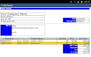 Screenshot of Easy Invoice