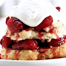 Shortcakes with Warm Strawberry Sauce
