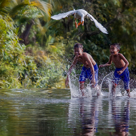 Duck Catcher by Pimpin Nagawan - Babies & Children Children Candids