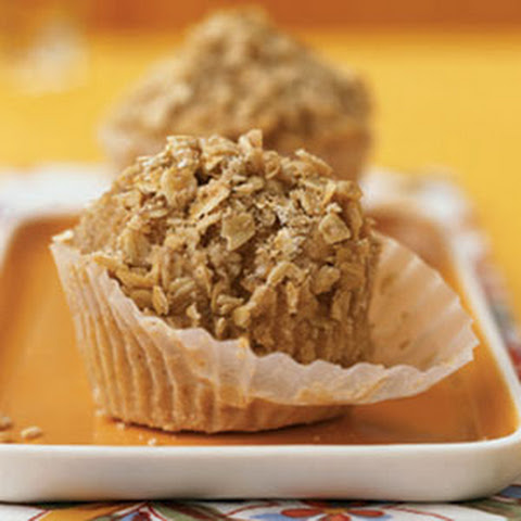 Banana Nut Muffins with Oatmeal Streusel