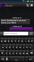 Screenshot of GO SMS Black Purple Theme