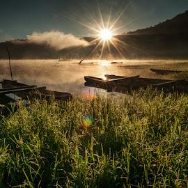 Morning in Tamblingan  by Dewa Rastama - Landscapes Sunsets & Sunrises