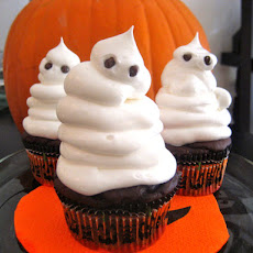 Low Fat Fudgy Ghost Cupcakes