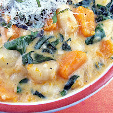 Creamy Gnocchi, Butternut Squash and Spinach
