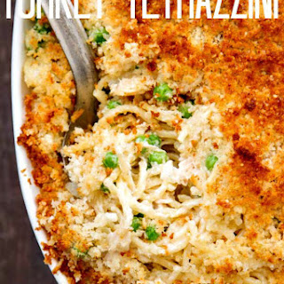 Turkey Tettrazzini with a Crunchy Parmesan Breadcrumb Topping