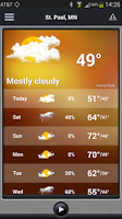 Screenshot of KSTP Weather
