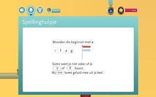 Screenshot of Spelling-app Taal actief