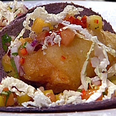 Tempura-Fried Fish Tacos with Tropical Salsa
