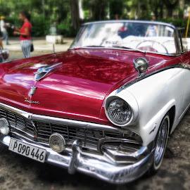colorful car by Goran Bakoc - Transportation Automobiles ( old car, havana, cuba,  )