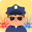 Kids police car icon