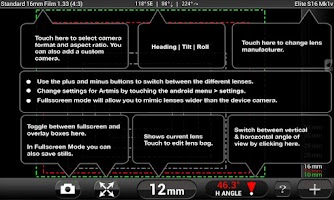 Screenshot of Artemis Director's Viewfinder