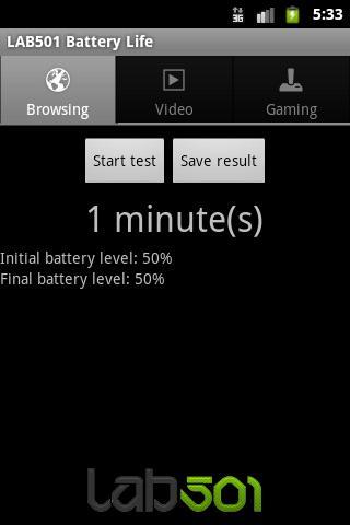 LAB501 Battery Life