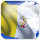 3D Vatican Flag icon