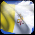 3D Vatican Flag + icon