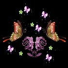 butterfly and flower icon