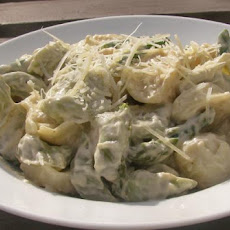 The Realtor's Creamy Cheese Tortellini With Asparagus