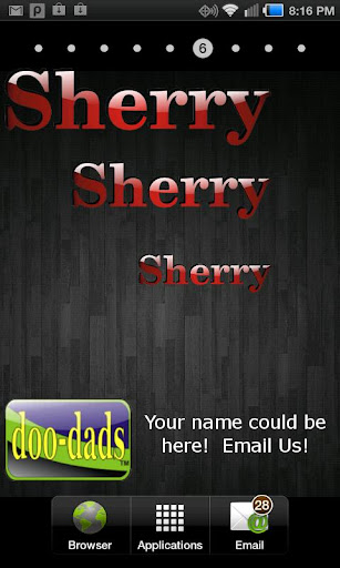 Sherry doo-dad