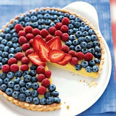 White Balsamic Custard Tart with Fresh Berry Topping