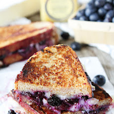 Blueberry, Brie and Lemon Curd Grilled Cheese