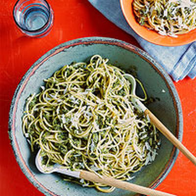 Charred Scallion Pesto Pasta
