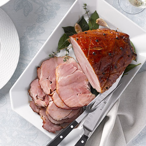 Maple-Bourbon Glazed Ham