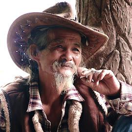 igorot cowboy by Potz Fernandez - People Portraits of Men ( potz, cowboy, old man, igorot, portrait, man )