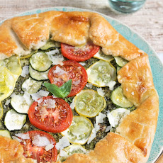 Summer Vegetable Galette with Pesto