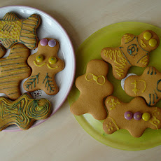 Christmas Ginger Man Cookies