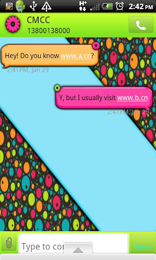GO SMS THEME ColorfulRetro