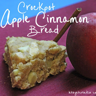 Crockpot Apple Cinnamon Bread