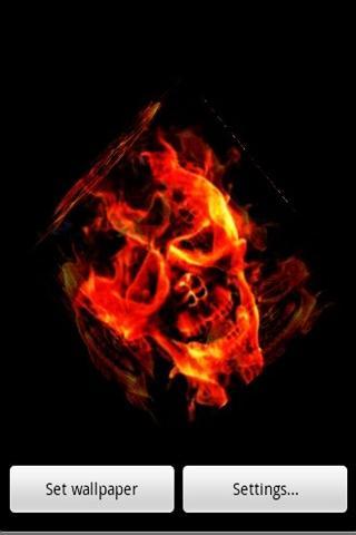 3D燃燒骷髏