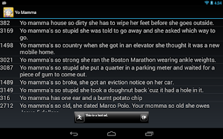 Screenshot of Yo Mamma Jokes