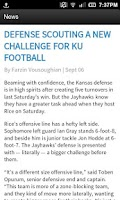 Screenshot of The University Daily Kansan