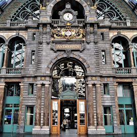Antwerp train station by Anita Berghoef - Buildings & Architecture Public & Historical ( doors, building, train station, window, door, windows, architecture, public )