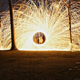 Whisk+SteelWool+FIRE by Kevin Erdvig - Abstract Fire & Fireworks