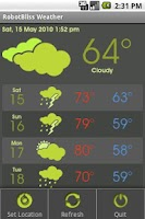 Screenshot of RobotBliss Weather