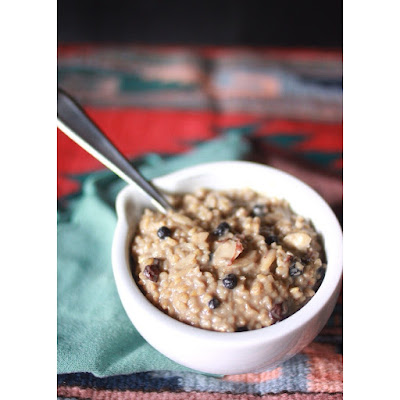 Blueberry Almond Steel Cut Oats