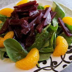 Beet, Mandarin Orange and Spinach Salad