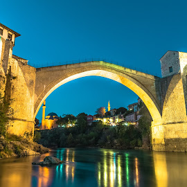 Old Bridge by Stephen Bridger - Buildings & Architecture Public & Historical ( europe, bosnia and herzegovina, old bridge, old town, bosnia, travel, bridge, mostar, bih, travel photography )