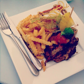 Chicken Chop @ Riverfront Hotel, Ipoh by Budin DaneCreative - Food & Drink Plated Food (  )