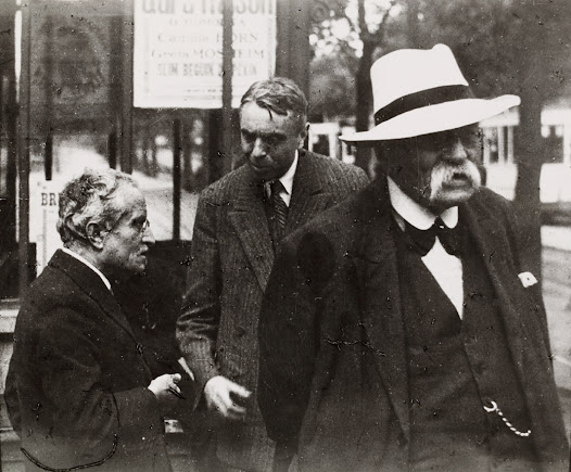 Henri La Fontaine and Frits Donker Duyvis in Brussels in 1934