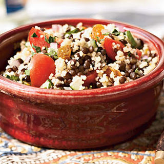 Black Lentil and Couscous Salad