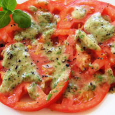Tomatoes With Basil Vinaigrette