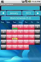 Screenshot of Work Calendar 76